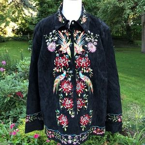 Avanti Suede leather embroidered Jacket size XL